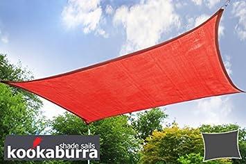 Voile d\'Ombrage Rouge Rectangle 4x3m - Ajouré Premium - 185g/m2 ...