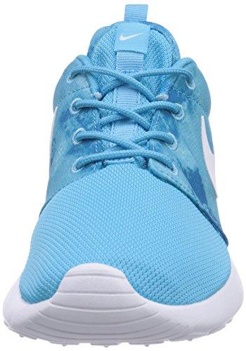 Nike Roshe Run Print - zapatilla deportiva de material sintético mujer Blau (Clearwater/White-Dark Electirc Blue)