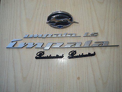 (03 Chevy Impala ls presidential Side Door Nameplate Rear Trunk Leaping Jumping Deer Emblem Decal Set of 6)