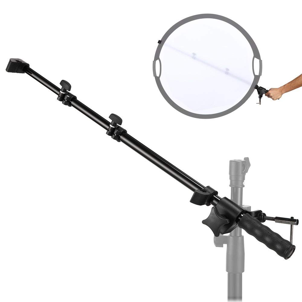 Selens Reflector Holder Arm Support Photo Studio Extendable Boom Stand with Adjustable Length 22.4-57 inches for Product and Portrait Photography by Selens