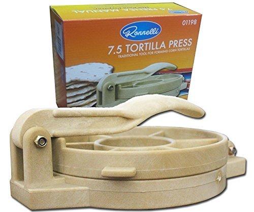 (7.5 inches Tortilla Press Heavy Duty Plastic Authentic Tortilla Maker Corn Tortilla Machine)