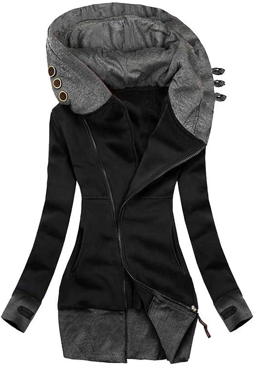 HEITIGN Casaco feminino com capuz, jaqueta quente de inverno