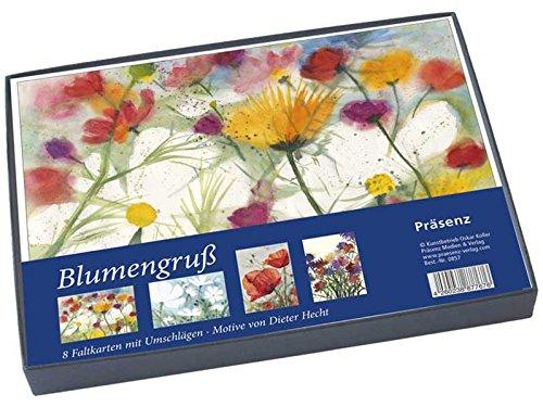 Geschenkbox Blumengruß: 8 Faltkarten B6 mit Umschlag Karten – 1. Februar 2016 Dieter Hecht Präsenz Medien & Verlag B01BUV78AM Aquarellmalerei (Kunst)