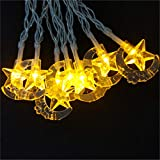 BGFHDSD Star Fairy Lights Battery Moon String Garland Lighting Wedding Decoration Room Christmas Xmas Garden Light Ramadan Decor. Yellow