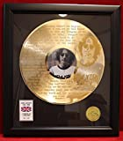 John Lennon Imagine GOLD LP RECORD WOOD FRAMED DISPLAY ""
