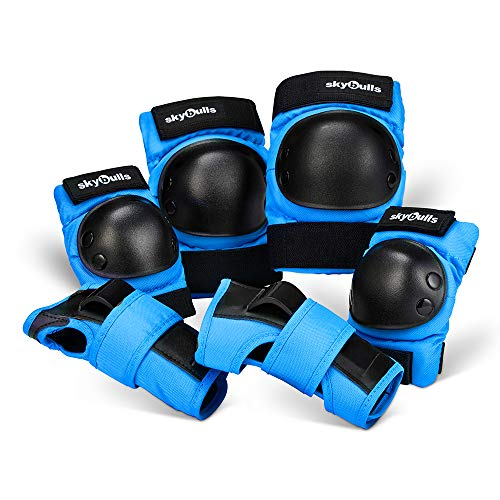 Wrist Guards Hockey - Knee Pads Elbow Pads Wrist Guards for Kid, Child/Toddler Protective Gear Set for Bike Cycling Skating Electric-Scooter Roller Inline Skating BMX Bicycle Rollerblading Sports for Children's Day Gift