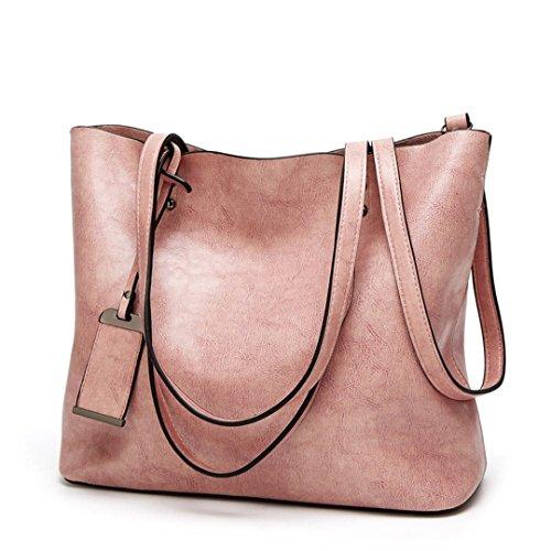 Borsa rosa Designer Grande Borse a Borse capacità tracolla tracolla Lady pelle in Lady donna a Borsette nera Borsetta per borse con X4Z0Rwq