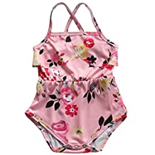 Baby Girl's One Piece Swimwear Swimsuit Floral Swimming Costume Bathing suit