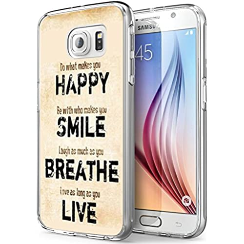 S7 Active Happy,Gifun Soft Clear TPU [Anti-Slide] and [Drop Protection] Protective Case Cover for Samsung Galaxy S7 Active W Happy Smile Beautiful Live Sales