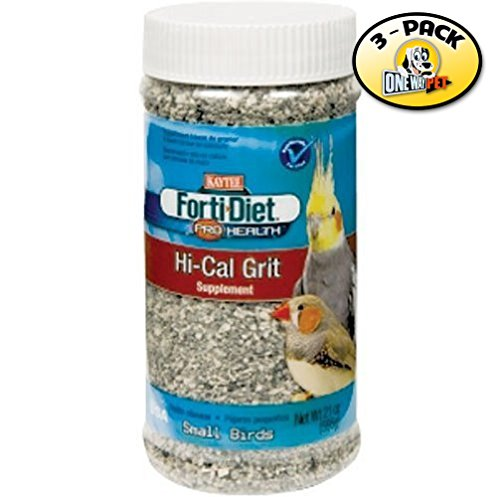 Kaytee Forti-Diet Pro Health Hi-Calcium Grit Small Bird Supplement Jar (Pack of 3)