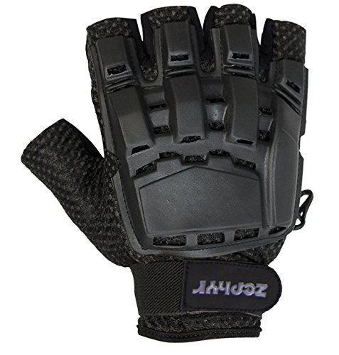 (Zephyr Tactical Half-Finger Paintball and Airsoft Gloves - Black -)