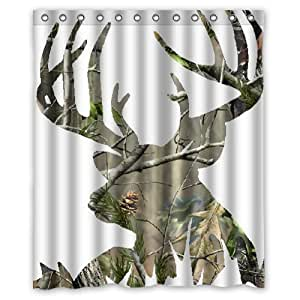 camo kitchen accessories camo deer picture custom shower curtain 60 quot x 1961