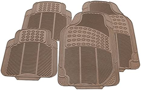 CITREON C6 HEAVY DUTY 3 PIECE RUBBER FLOOR MAT 06 on