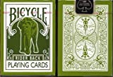 : Green Bicycle Elephant Tsunami Playing Cards Rider Back Poker Size Regular Index