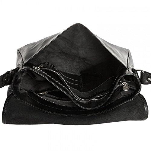 CASPAR Fashion - Bolso cruzados para mujer Negro - negro