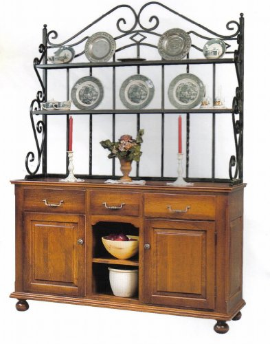 Amish Heirloom Buffet with Bakers Rack Amish Buffet