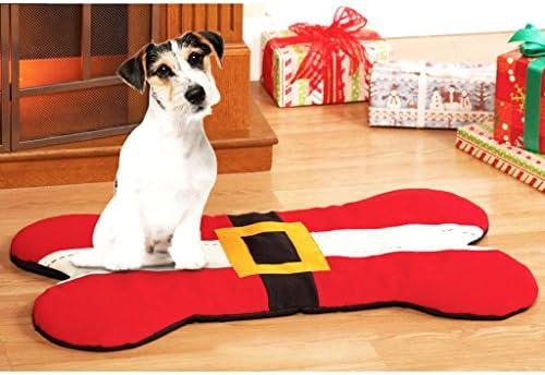 Weihnachtsdeko Hund.Hundeknochen Form Matte Hundematte Matte Hundebett Komfortbett Weihnachtsdeko Für Hunde Katze Haustier 95x56cm
