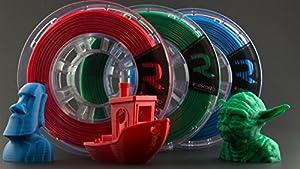 REPKORD V-LINE+ 3D Printer Filament PLA RGBPak1.75mm 1/2lb spools, Red, Green, Blue Bundle, Makerbot Compatible 0.03+/- diam (Pack of 3) by Repkord