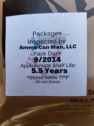 Genuine Military MRE Meal with Inspection Date September 2017 or Newer (Beef Taco)