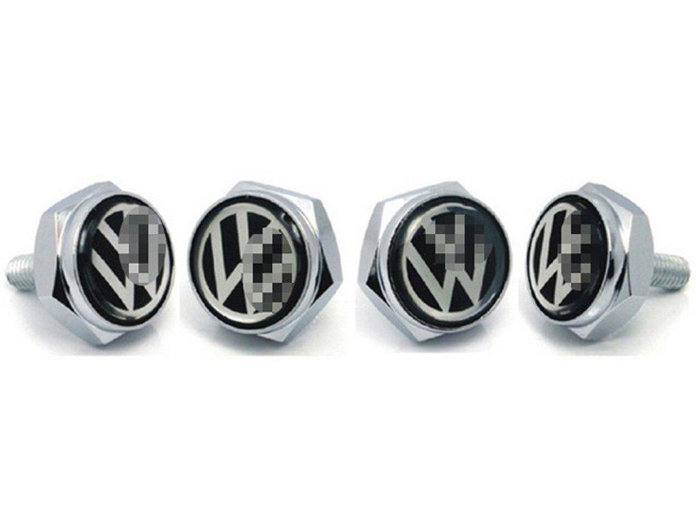 Harvard kid DIY Car Parts License Plate Frame Screw Bolt Caps Covers for VW Volkswagen All Model