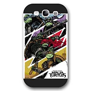 Customized Black Frosted Samsung Galaxy S3 Case, Teenage Mutant Ninja Turtles(TMNT) Samsung S3 case, Only fit Samsung Galaxy S3