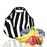 zebra kitchen dishes - Lunch Tote, OFEILY Lunch boxes Lunch bags with Fine Neoprene Material Waterproof Picnic Lunch Bag Mom Bag (Zebra pattern)