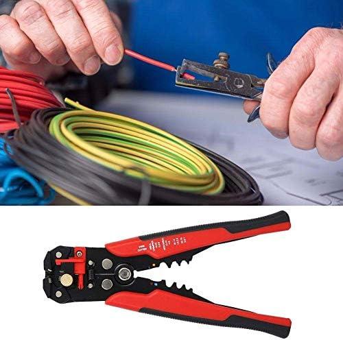 SSY-YU 圧着ペンチストリッパー、バッファハンドルと電気製造業のための8.07x2.56inサイズで調節可能レッド電子自動ワイヤストリッププライヤー ペンチ 切断工具