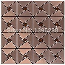 Brown Aluminium-plastic mirror glass mosaic wall tiles,12''x12'' Self Adhesive Metal mosaic tile sticker,Kitchen backsplash homemosaic decor wall tile,LSLCB01 (12''x12''/piece)