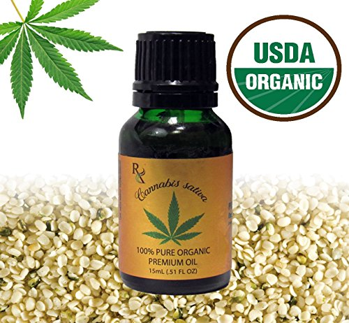 Earth Natural Botanical 100  Pure Organic Hemp Seed  Unrefined  Cannabis Sativa Kosher   Carrier Hemp Seed Oil   15Ml   51 Fl Oz  Glass Bottle