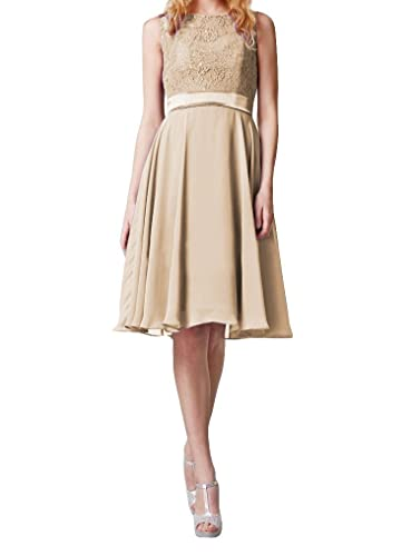 Always Pretty Women's Lace Form Party Cocktail Bridesmaid Gown Mini Dress