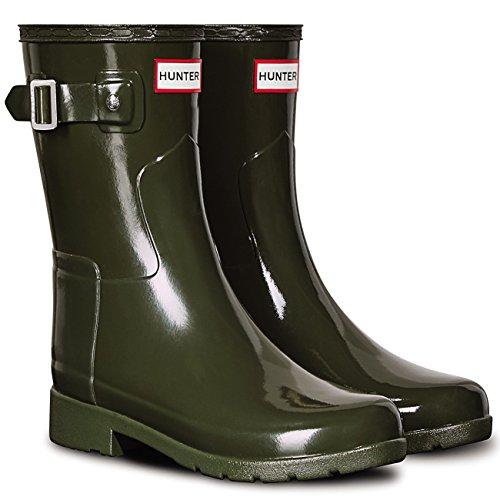 Women's Rain Original Hunter Boot Short Olive Dark Glossy UvR4xwn4