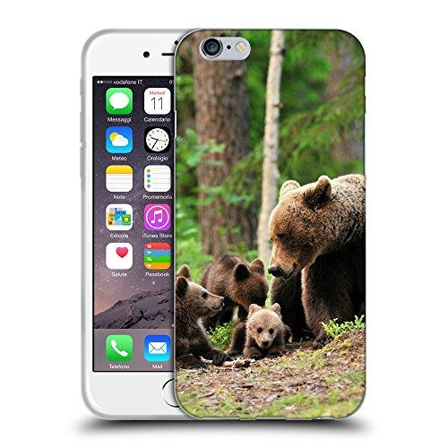 """Just Phone Cases Coque de Protection TPU Silicone Case pour // V00004091 Big famille des ours dans la forêt // Apple iPhone 6 4.7"""""""