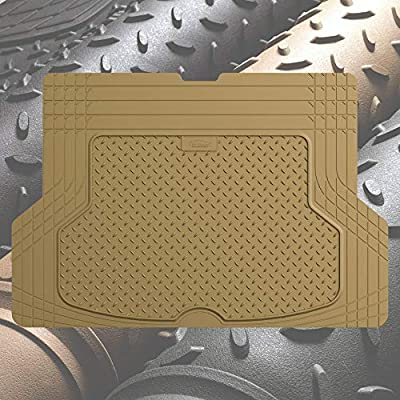 FH Group F16406 Premium Trimmable Rubber Cargo Mat w. FH3011 Silicone Anti-Slip Dash Mat Tan Color- Fit Most Car, Truck, SUV, or Van