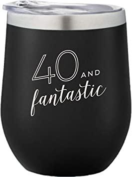 Too Old For This Shit 12 oz Stainless Steel Insulated Wine Tumbler With Lid