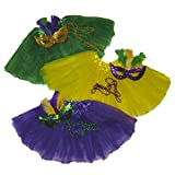 Southern Wrag Co Big Girls Adult Mardi Gras Tutu Deluxe 3 Pak Measures 18-36 Length 16
