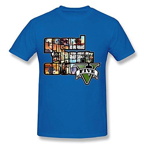 SIANDA Men's GTA V Grand Theft Auto Game Logo T-Shirts Size L