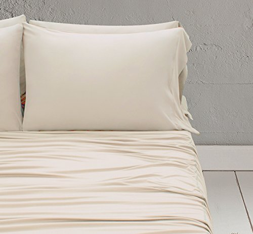 SHEEX WOOL-TECH Pillowcases (Set of 2), Super-Soft and Breathable Blend to Promote a Better Night's Sleep, Ivory (King)