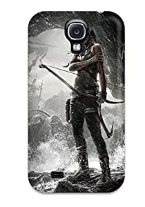Faddish Phone Tomb Raider Game Case For Galaxy S4 / Perfect Case Cover