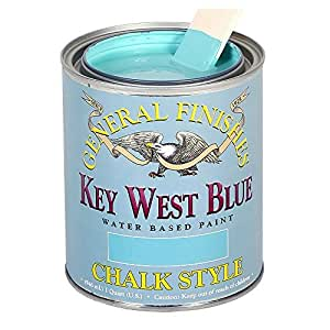 General Finishes MKWP Chalk Style Paint, 1 pint, Key West Blue