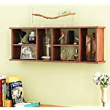 Home Sparkle Sh757 Wall Shelf (Lacquer Finish, Brown)
