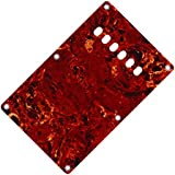 IKN 3Ply Red Tortoise Shell Back Plate tremolo cover with Screws for Strat Style Guitar