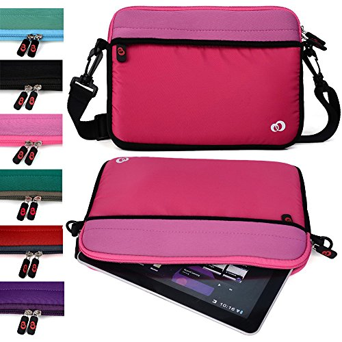 "Kroo College Mini Bag for Girls and Boys fits Polaroid 9-inch, S9, Ematic 10"" Genesis Prime XL Tablet (Tickle Me Pink Universal Case) -  EnvyDeal, ND11S2P1