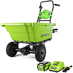 Greenworks 40V Cordless Garden Cart, 4.0 AH Battery Included GC40L410