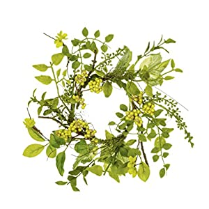 "Sullivans 11"" Artificial Fern Berry Table Wreath 77"