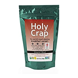 Holy Crap Breakfast Cereal, 8 Ounce 22 Non-GMO, gluten free, organic, kosher and vegan High in fiber and iron Great source of omega-3, 6 and calcium