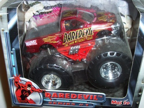 Maisto Marvel Monsters Daredevil Pull Back Power Die Cast Motorized Vehicle