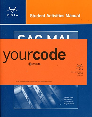 SAG MAL Student Activities Manual + Supersite code