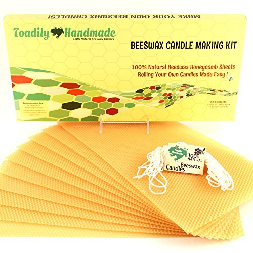 Make Your Own Beeswax Candle Kit 100% Beeswax Honeycomb Sheets