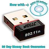 USB 2.0 WiFi Wireless Adapter Network Internet LAN Card 802.11n/g/b Mini Desktop or Laptop 150Mbps 150M/500feet - WDLLC