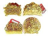 Gold Colored Napkin Holder 4 Asst Designs , Case of 144